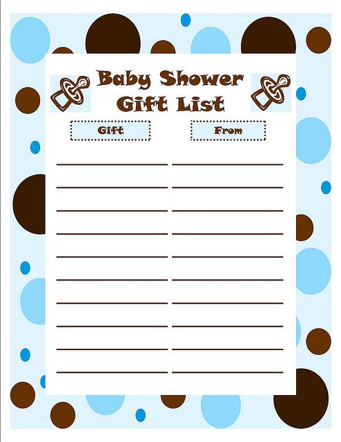 Free Printable Baby Shower Checklist – Printable Baby Shower Guest List