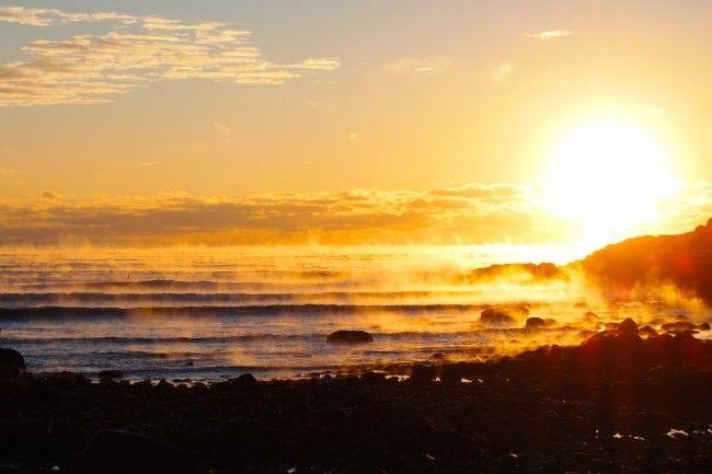 Atlantic Ocean on Fire