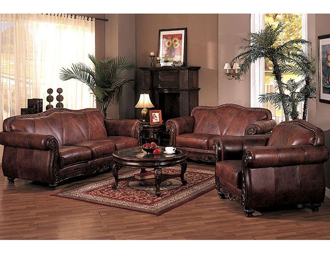 French Country Living Room Decor Leather Leather Living