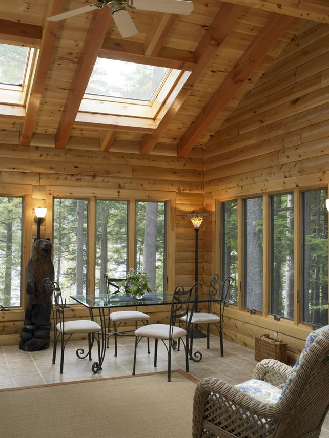 Four Seasons Room Seasonal Room Three Season Room: Log Homes, Log Home Designs