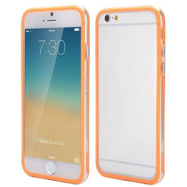 Oranje / transparante bumper voor iPhone 6 Plus