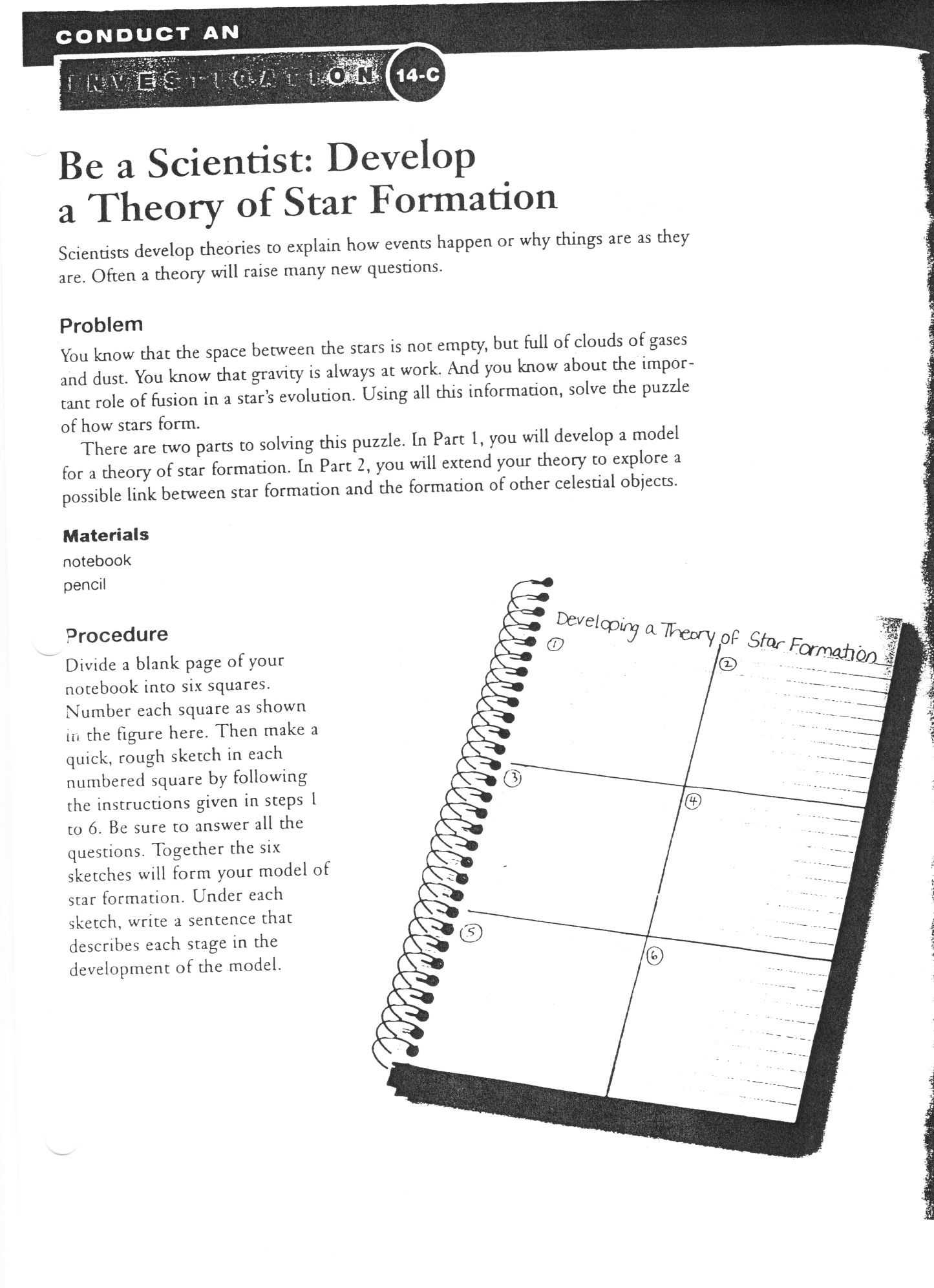 Developing A Theory Of A Star Formation