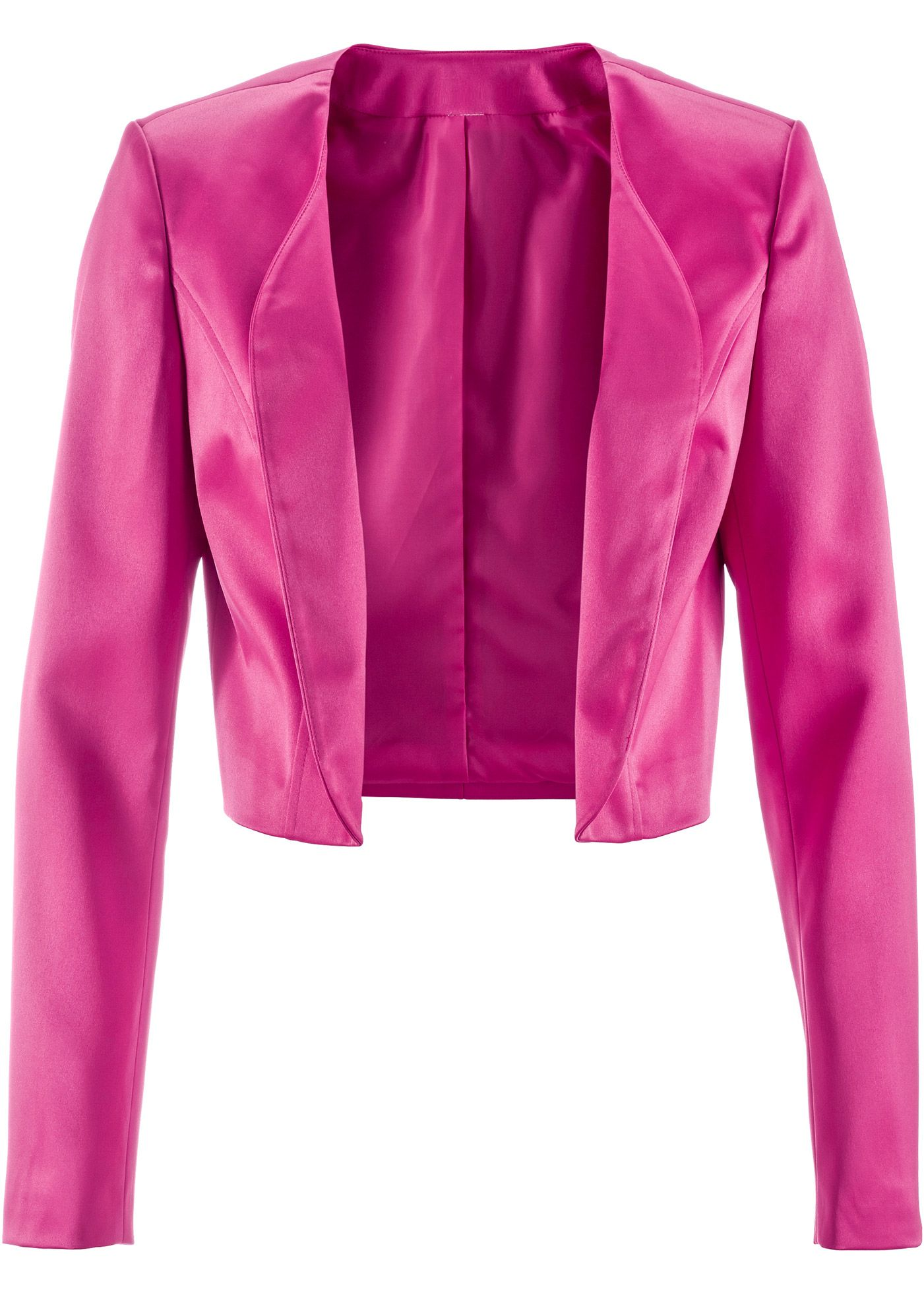 15327fc2b4 Bonprix satin look bolero fuchsia pink Blazer