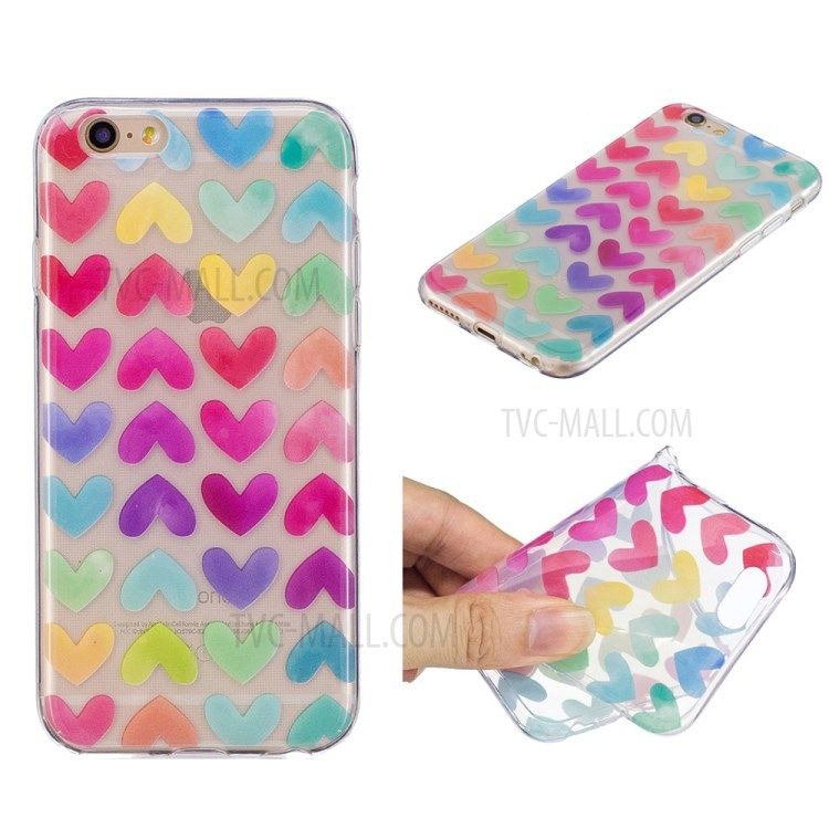 Pattern Printing Imd Tpu Cell Phone Casing Cover For Iphone 6s 6 4 7 Inch Colorful Hearts Apple Iphone Ipad Technology Acces Iphone Ipad Apple Zubehor