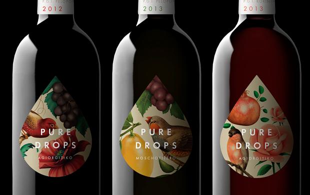 Pure Drops, la esencia de la marca inscrita en un pequeño bodegón. Bob Studio.