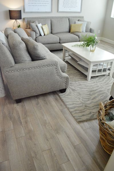 New Floor Reveal! | Living room decor inspiration, Living ...