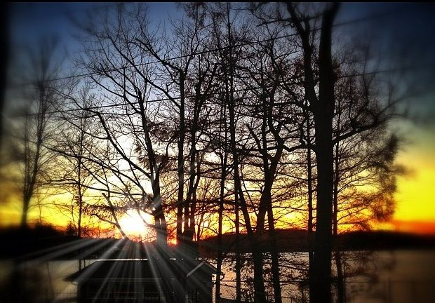 Sunset On Lake Mahopac Ny Mahopac Putnam Valley Country Roads