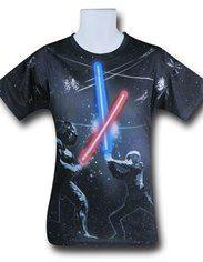 Star Wars Sublimated Saber Fight T-Shirt