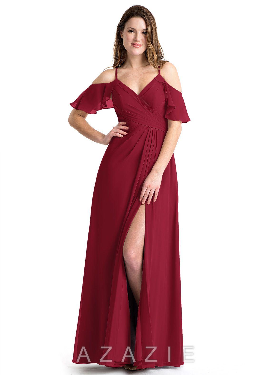 3984560b57f Azazie Dakota Bridesmaid Dress - Flamingo