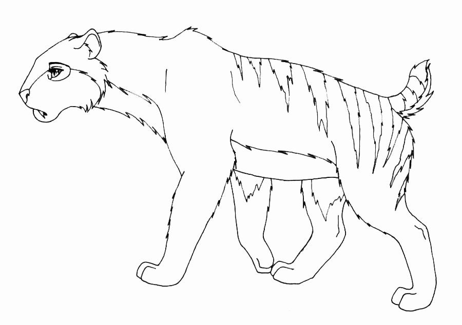 32 Saber Tooth Tiger Coloring Page In 2020 With Images