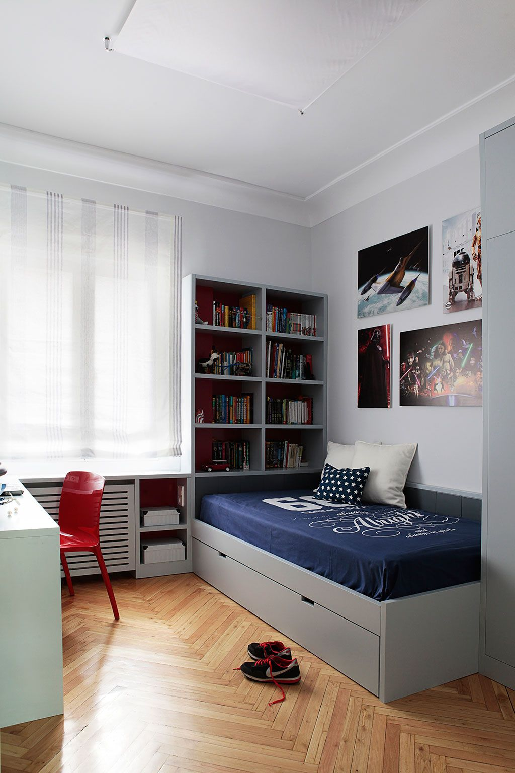 Dormitorio juvenil mis interiores for Decoracion habitacion juvenil nino