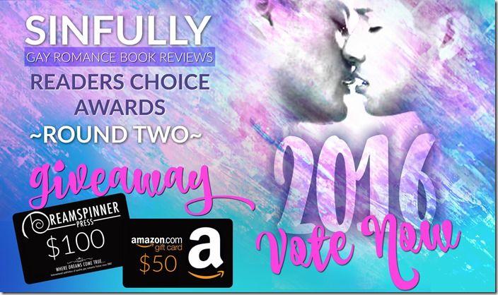 Readers' Choice Awards 2016: Round Two - Top 20   @sinfully_mmblog #mmromance #gayromance #gayfiction #lgbt #gay #books