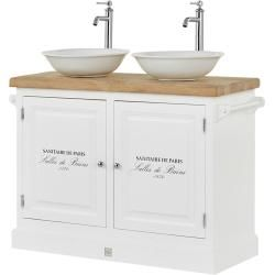 Photo of Van Heck bathroom-double washbasin combination Colonialsee – white – 120 cm – 96 cm – 59 cm – cupboards> B
