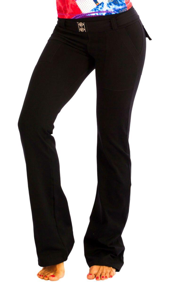 Black Supplex Fitness Pants - Protokolo