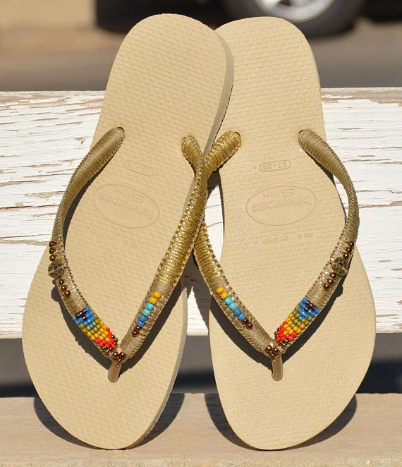 9f6f694edc64e Sandals, Women Sandals, Bohemian Gift, Flip Flops, Gold Flip Flops ...