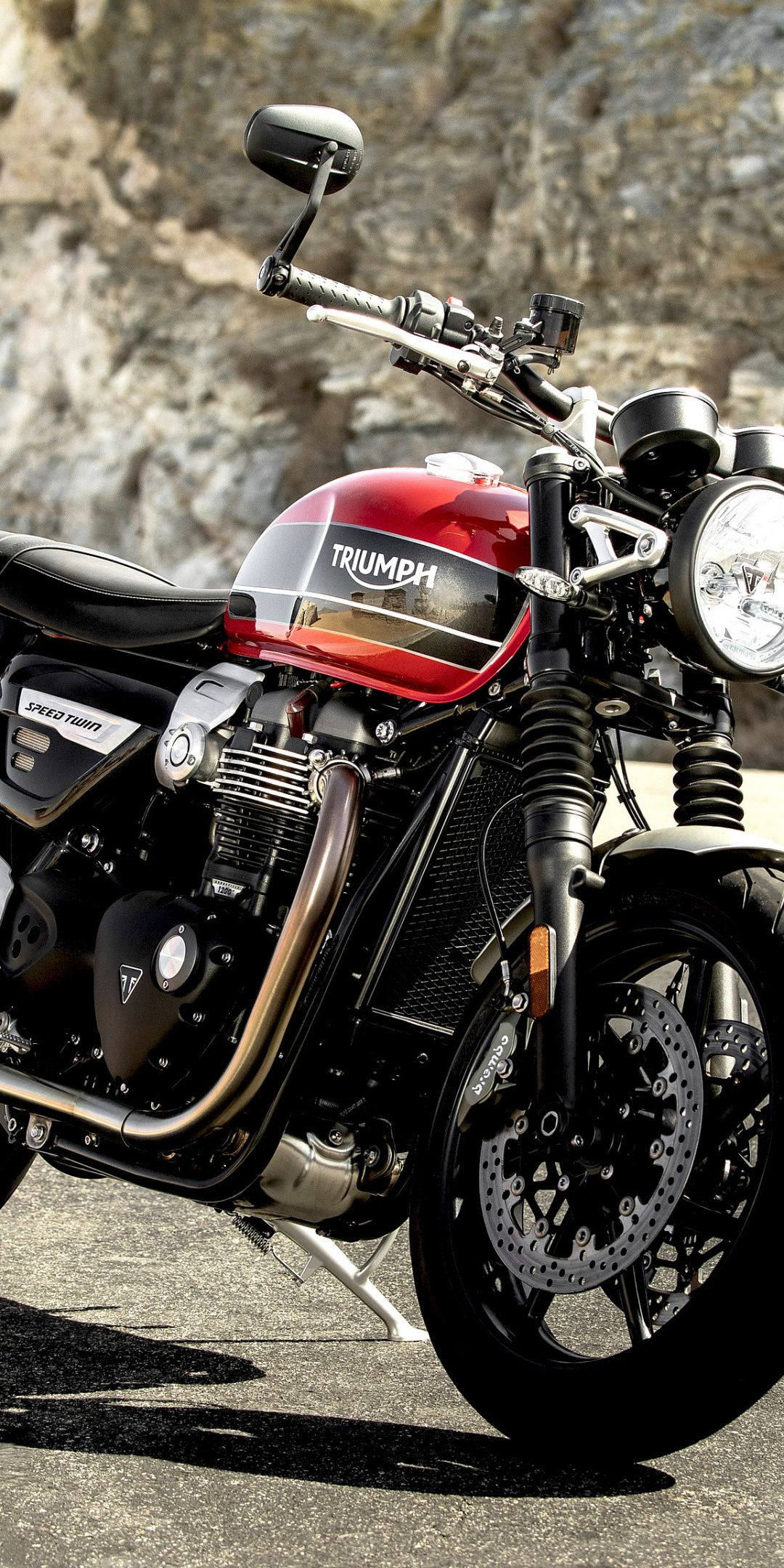1080x2160 Triumph Speed Twin Motorcycle 2019 Wallpaper With