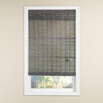 Radiance Gray Wash Norwood Bamboo Rollup Blind 72 In W X 72 In