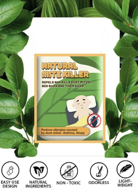(6PACK BUNDLE SALE)Natural Herbal Mite Exterminating Pad