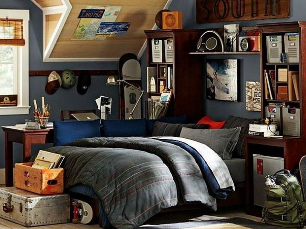 teen room: sports inspired teenage boys bedroom design ideas with
