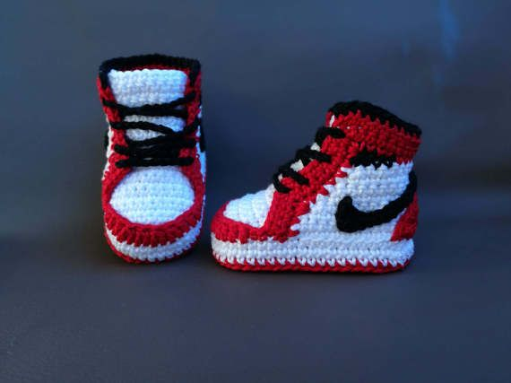 Crochet PATTERN Nike Air Jordans newborn sneakers  7b6186540