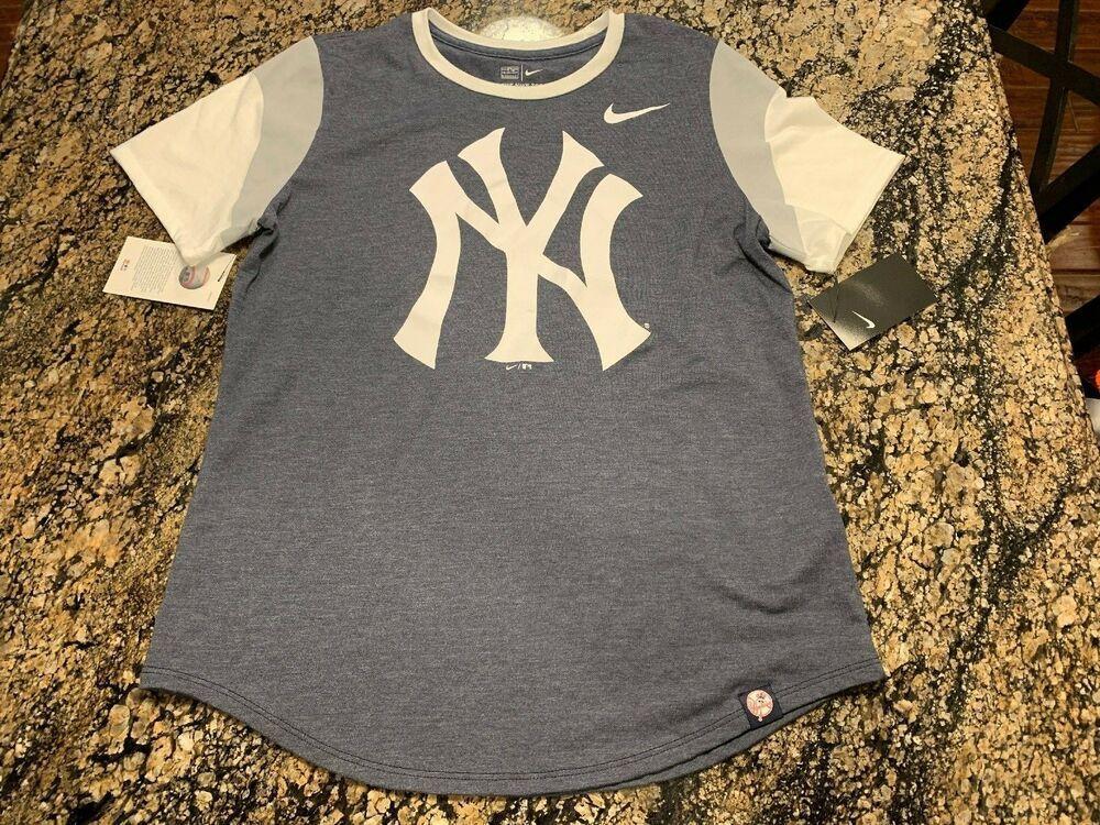 c326e25a7af073 NIKE MLB NEW YORK YANKEES NYY WOMENS TEE T SHIRT MEDIUM M BRONX BOMBERS   Nike  NewYorkYankees