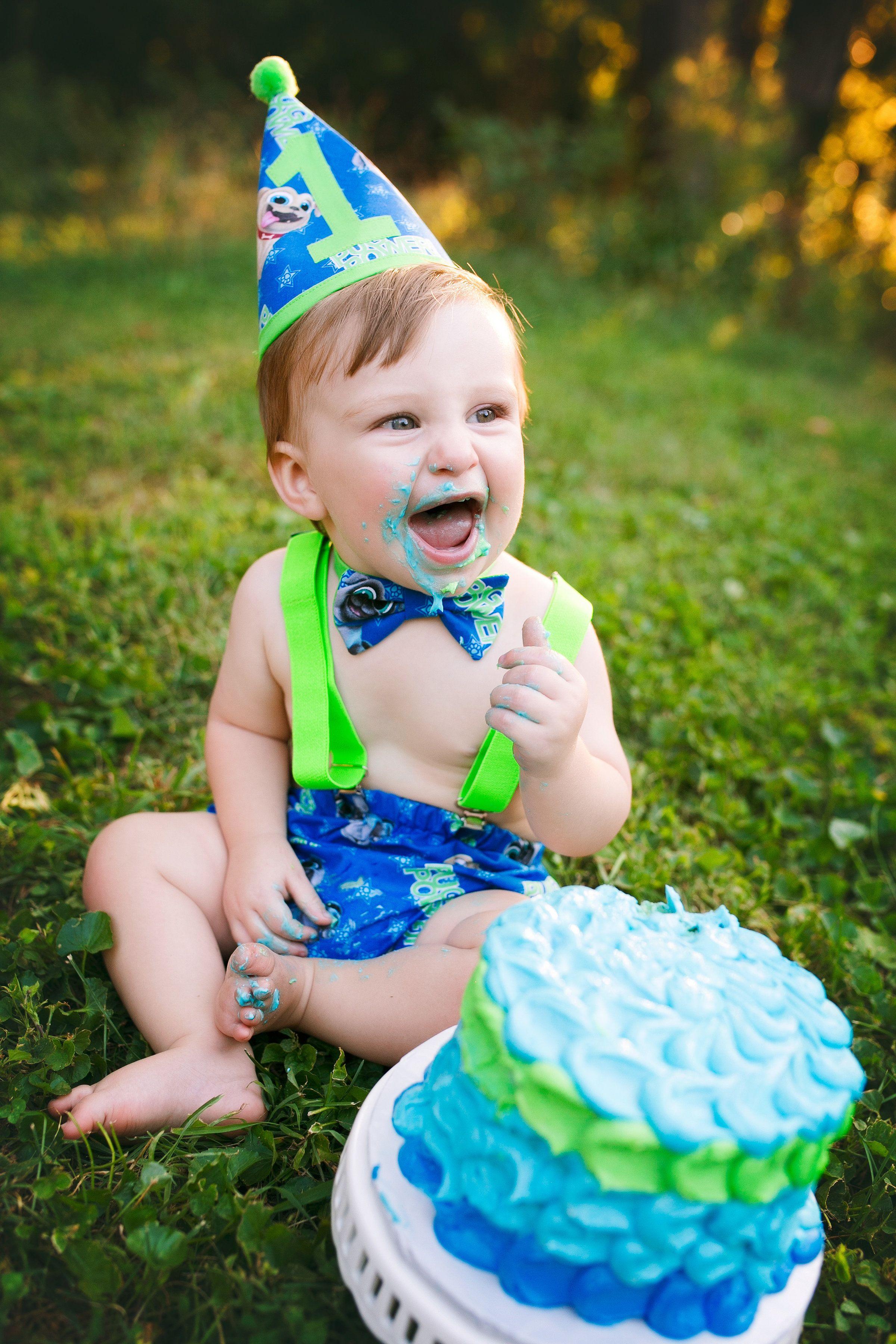 Puppy Dog Pals Outdoor Smash Cake First Birthday Outdoor Baby