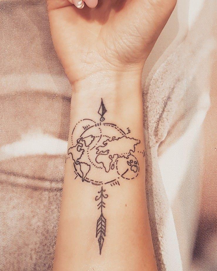 Tatouage pour les amateurs de voyages, les globe-trotters dans l'âme;)   – tattoo Ideen