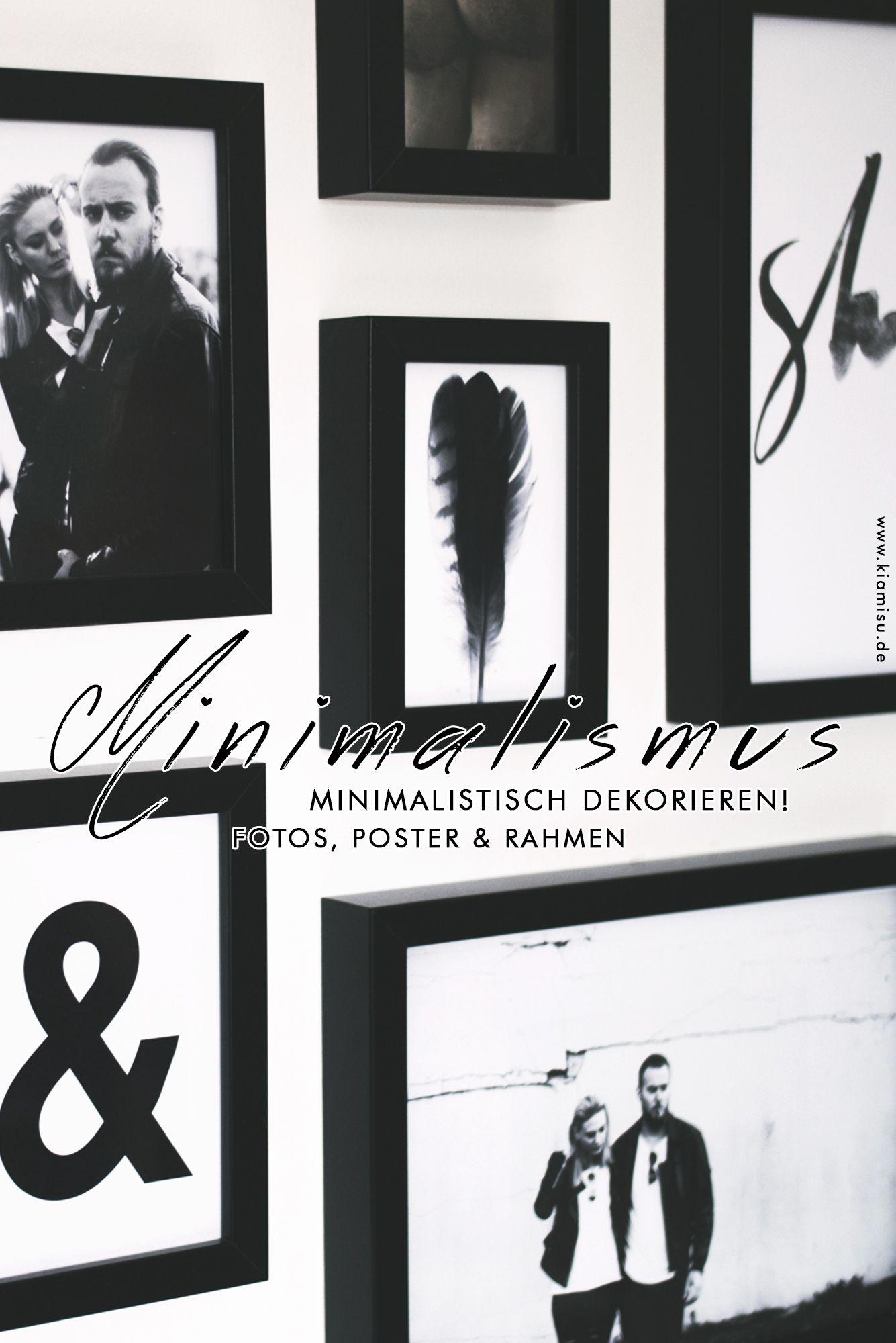 minimalistisch wohnen schwarz wei poster als dekoelement - Wohnen Schwarz Weis