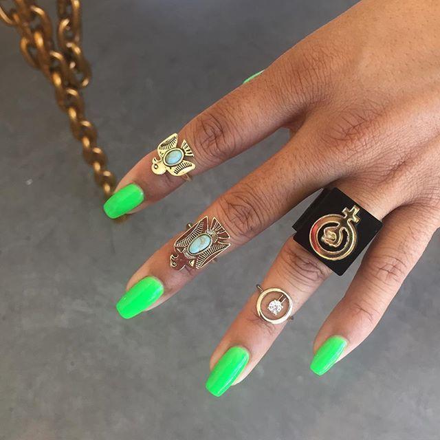 "$hop girl Carma Dee is rockin the ""woke"" stack today 💚💚 #melodyehsani"