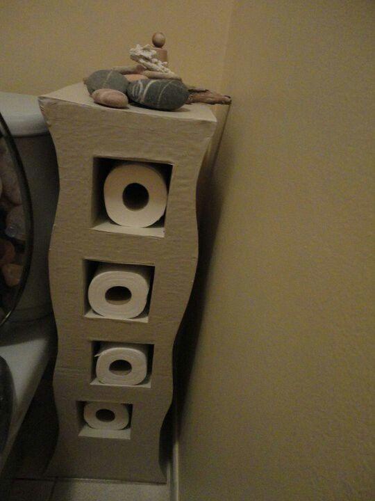 Petit meuble en carton pour ranger les rouleaux cart n cart n - Petit meuble en pin ...