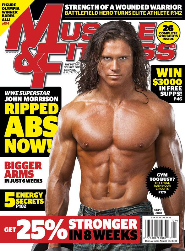 Muscle Fitness September 2010 Issue Preview Wwe Superstar John Morrison Ripped Abs Now John Morrison Ripped Abs Best Abs Exercises