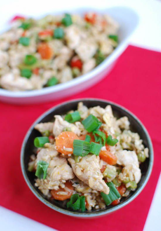 This Healthy Chicken Fried Rice is perfect for nights when you want a quick dinner that's both simple and nutritious!