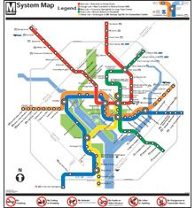 Metro System Map Poster | Jack's Room | Washington metro map
