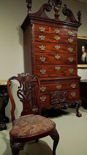 High Chest Of Drawers Carved By Nicholas Bernard And