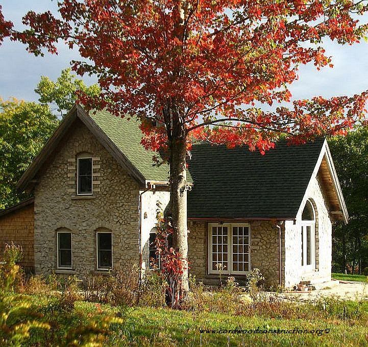 Log Cabin Designs Fryeburg Maine: A Current Photo Of Alan Adolphson's Aspen Cordwood Home In