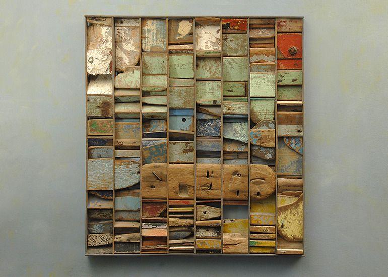 cuadro maderas recicladas