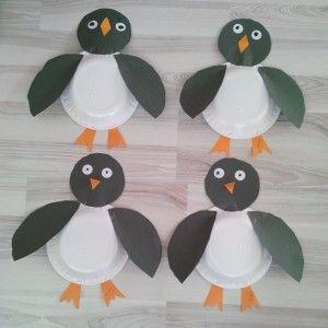 paper plate penguin craft & paper plate penguin craft | paperilautas-askartelu | Pinterest ...