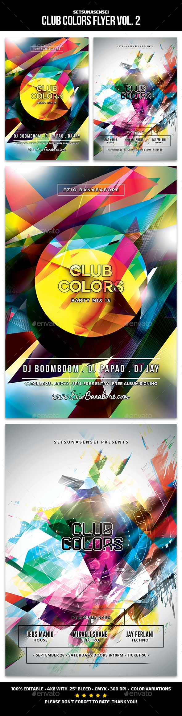 club colors flyer vol 2these flyers are perfect for promoting your