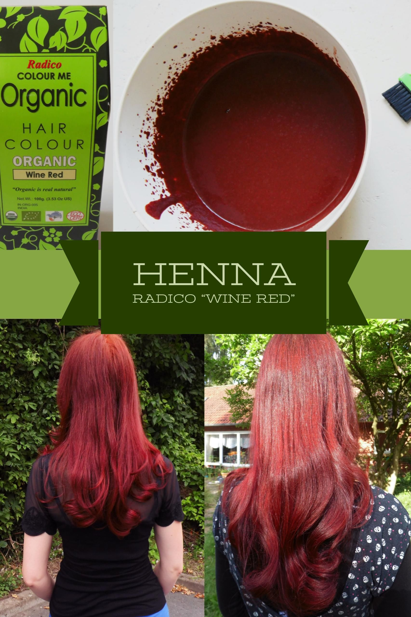 Haare färben I rote Haare mit Henna Das Wine Red von Radico gibt den Haaren dank
