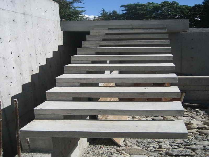 Gallery For Concrete Stairs Design Outdoor Trappdesign | Modern Stairs Design Outdoor | Indoor | Prefab Metal Residential Exterior | Terrace | Metal | Railing