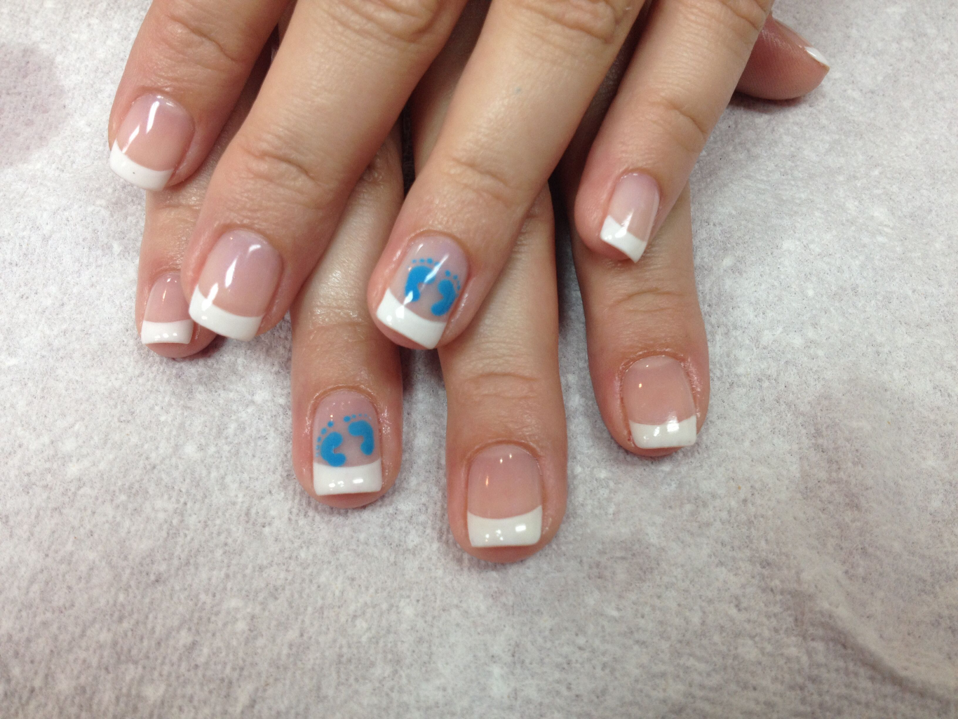 Baby shower nails | Baby | Pinterest