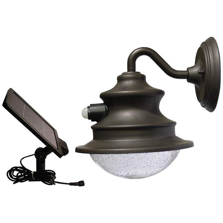 Barn 12 High Motion Sensor Solar Led Outdoor Wall Light 5h193 Lamps Plus Outdoor Light Fixtures Solar Light Chandelier Outdoor Wall Lighting