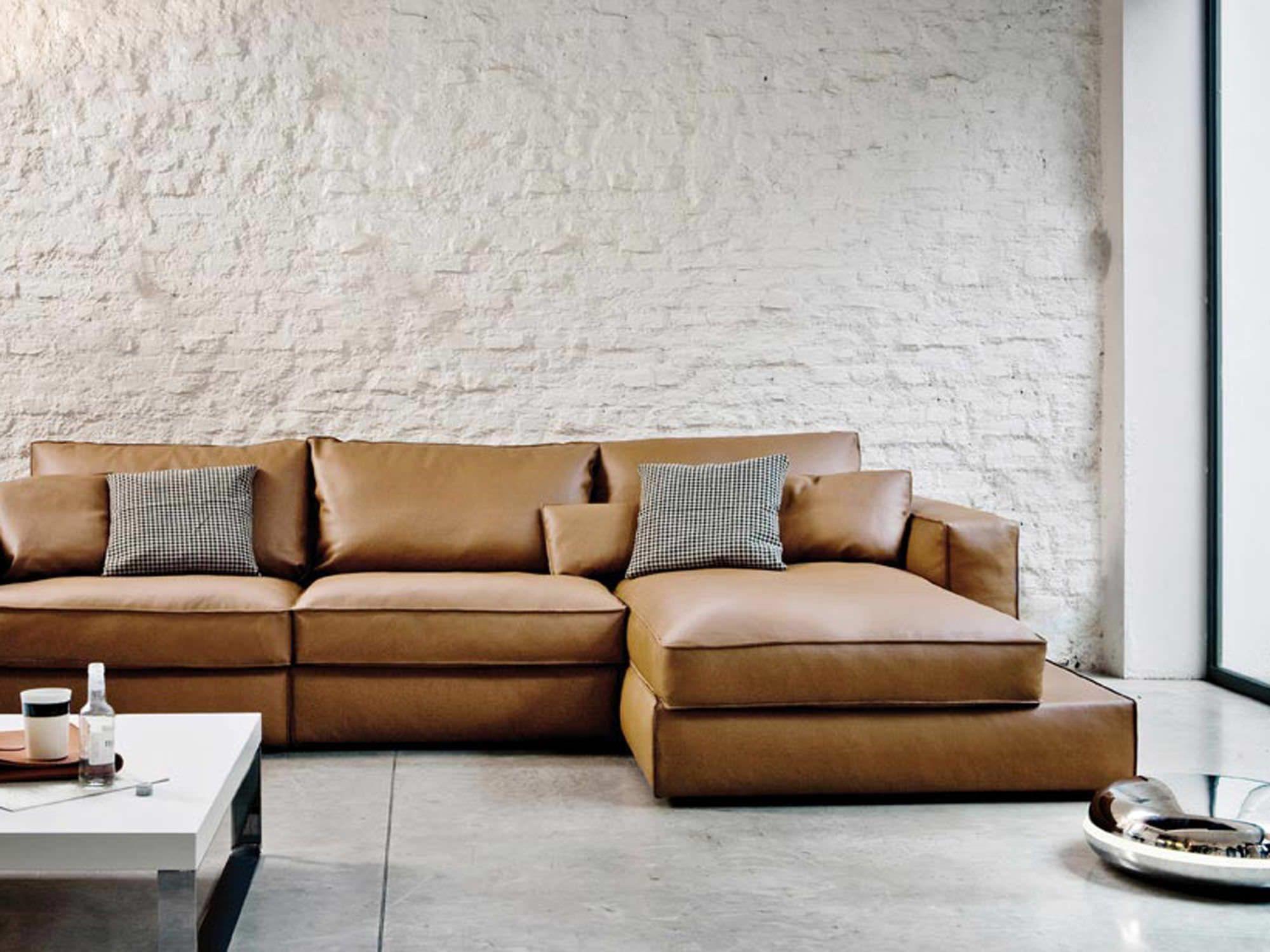 Modular Sofa Bed Leather Sofa Sofa Design Brown Sofa