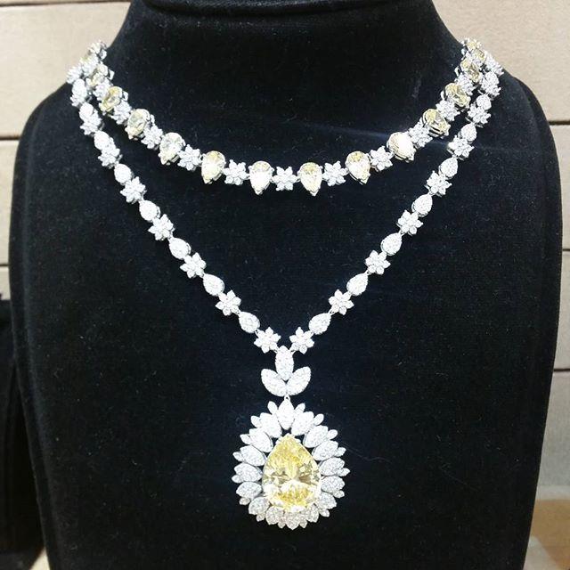 طقم ذهب ابيض زركون مجوهرات Diamond Dreams Necklace Pendant
