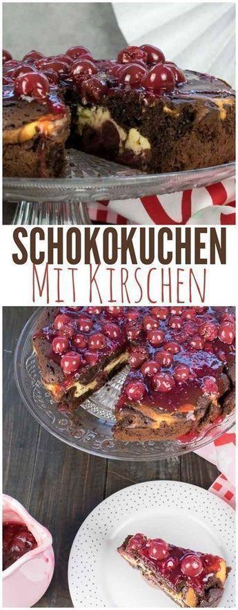 Schoko Kirsch Kuchen mit Vanille-Quark Füllung – Kuchen/Dessert /Süßspeisen