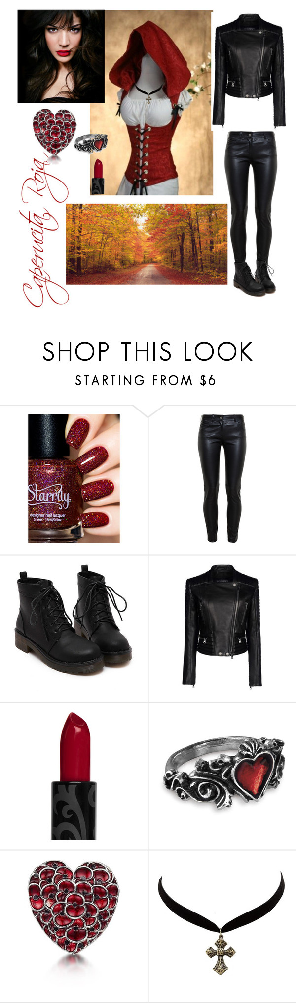 Caperucita roja urbana by crisvalx-cv on Polyvore featuring moda, Balenciaga, Charlotte Russe, Piel Leather and IVI