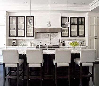 Black Kitchen Cabinets With White Doors like the white and dark - the dark door frames within the white