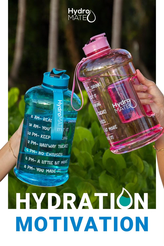 HydroMate 64oz Motivational Water Bottle