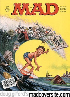 Mad Magazine No. 241 by George Woodbridge [©1983]