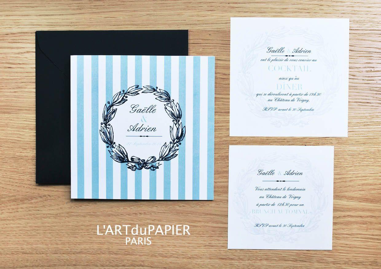 Faire-part de Mariage - Wedding Invitation \